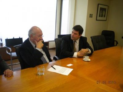 Rodrigo Eitel y Presidente Ricardo Lagos Escobar